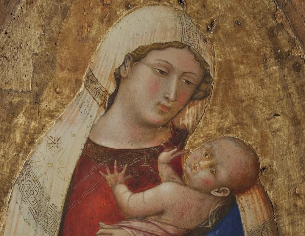 14. Polittico di San Pietro. Madonna a luce naturale
