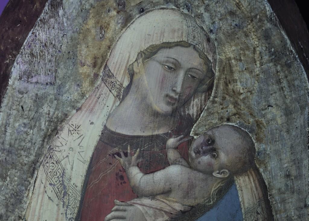 15. Polittico di San Pietro Madonna (rpresa a luce ultravioletta)