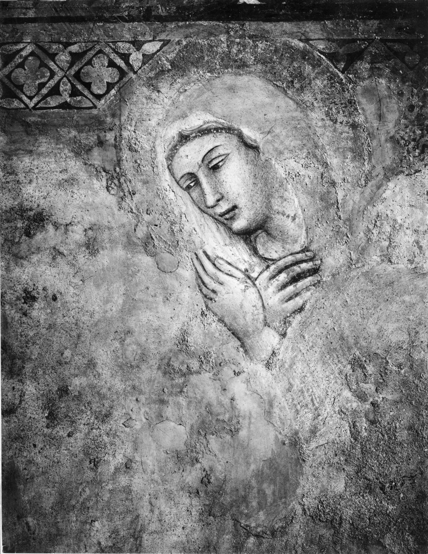 6. Annunciazione (particolare del volto rinnovato della Vergine)