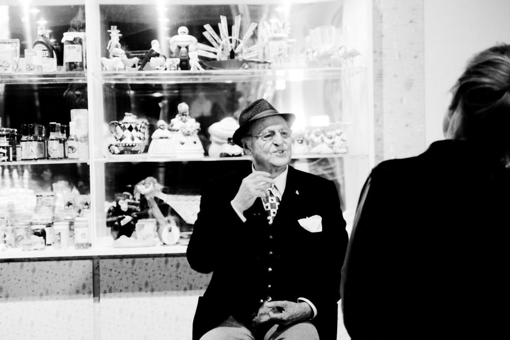 Renzo Arbore - La Mostra, MACRO Testaccio - La Pelanda, Roma - anteprima stampa, 18 dicembre 2015. © IL MURO foto: Jamila Campagna - Riproduzione riservata