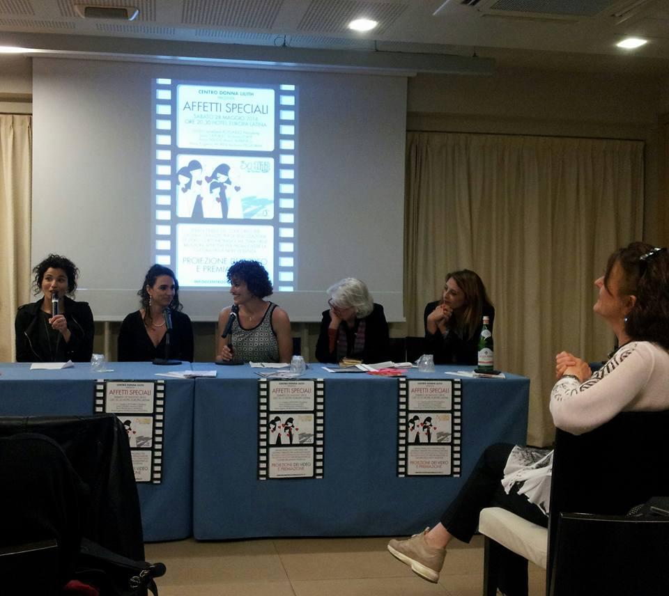 Da sinistra: Naike Anna Silipo, Elena Baroglio, Lucia Lorè, Loredana Rotondo, Gaia Capurso. Foto di Cora Craus