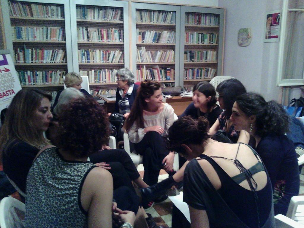 Incontro tra registe e giurate presso il Centro Lilith al termine della serata