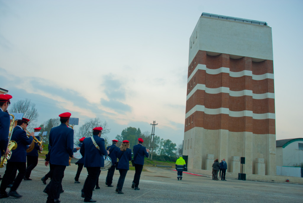 Cerimonia di inaugurazione della Ex Torre Idrica, nell'ambito dei festeggiamenti per l'80esimo della città di Pontinia - 19 dicembre 2015. Ph. IL MURO