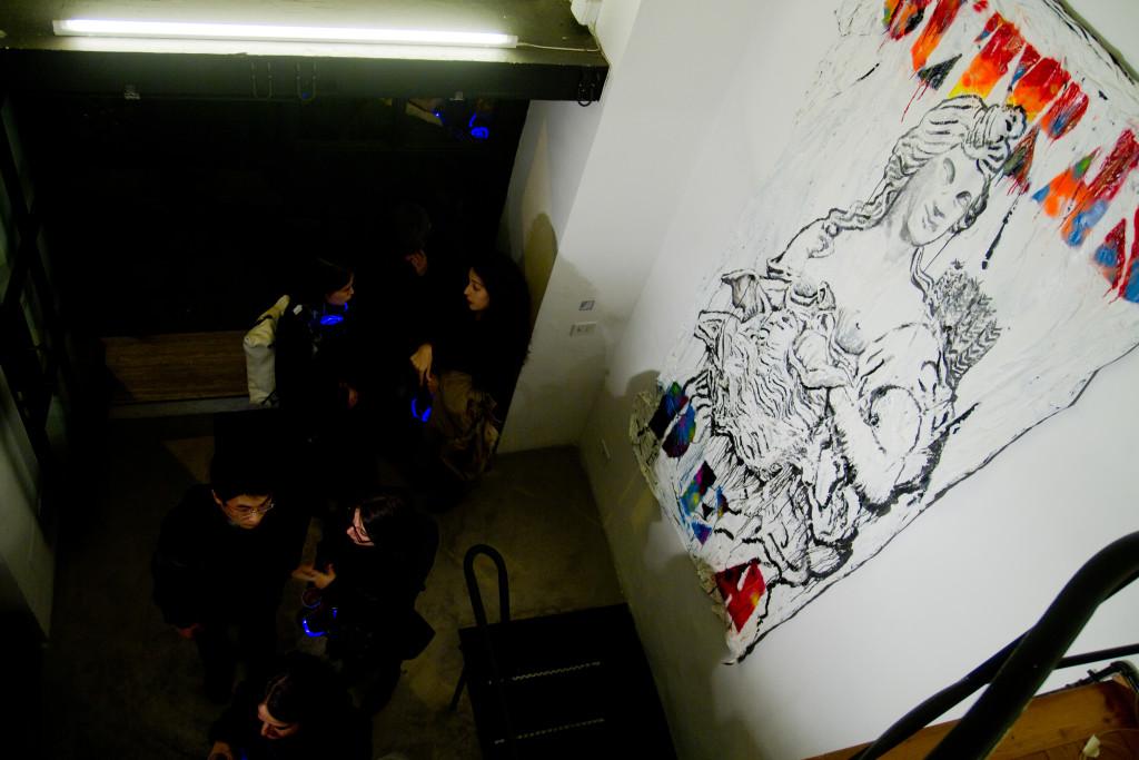Cristiano Carotti, Dove sono gli ultras, opening @ White Noise Gallery, Roma - ph. IL MURO