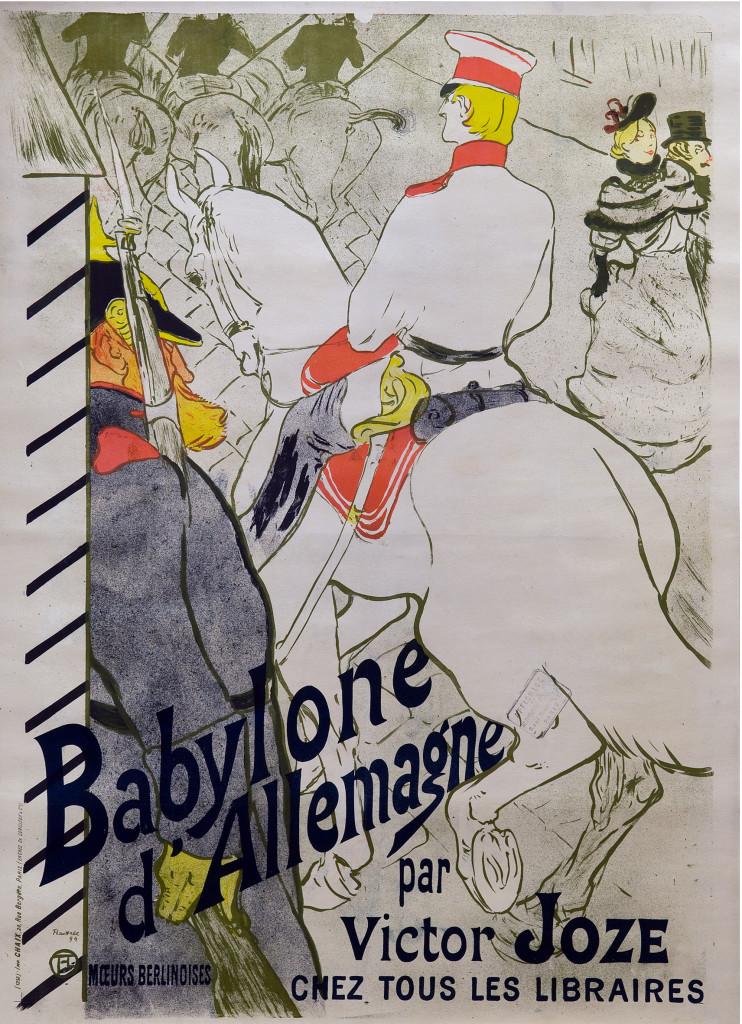 Henri de Toulouse-Lautrec, Babylone d'Allemagne, 1984, Color Lithography, 120x84,5 cm © Herakleidon Museum, Athens Greece