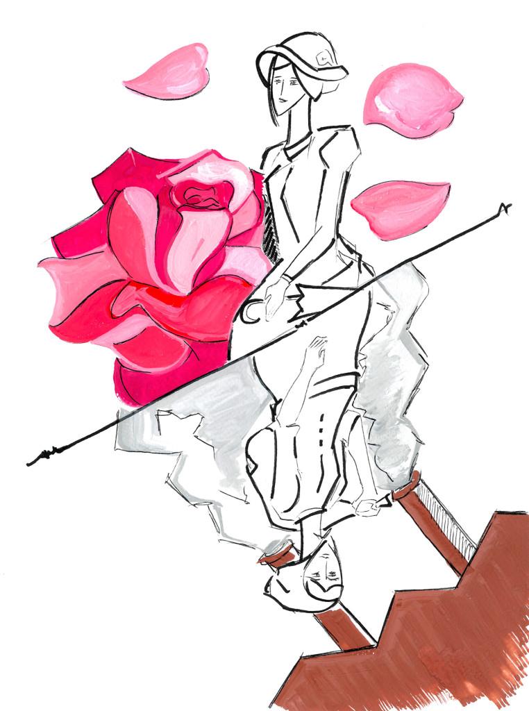 """""""Margareth si trova a dover vivere un cambiamento repentino della sua vita: il trasferimento da un tranquillo villaggio del Sud ad un'industrializzata cittadina del Nord, con i ritmi frenetici dell'incessante lavoro, dove lei si rivelerà una formidabile mediatrice, trasformandosi da ragazza rurale a trait d'union tra mondo urbano e contadino, tra uomini e donne, tra padroni ed operai."""" // illustrazione © IL MURO"""