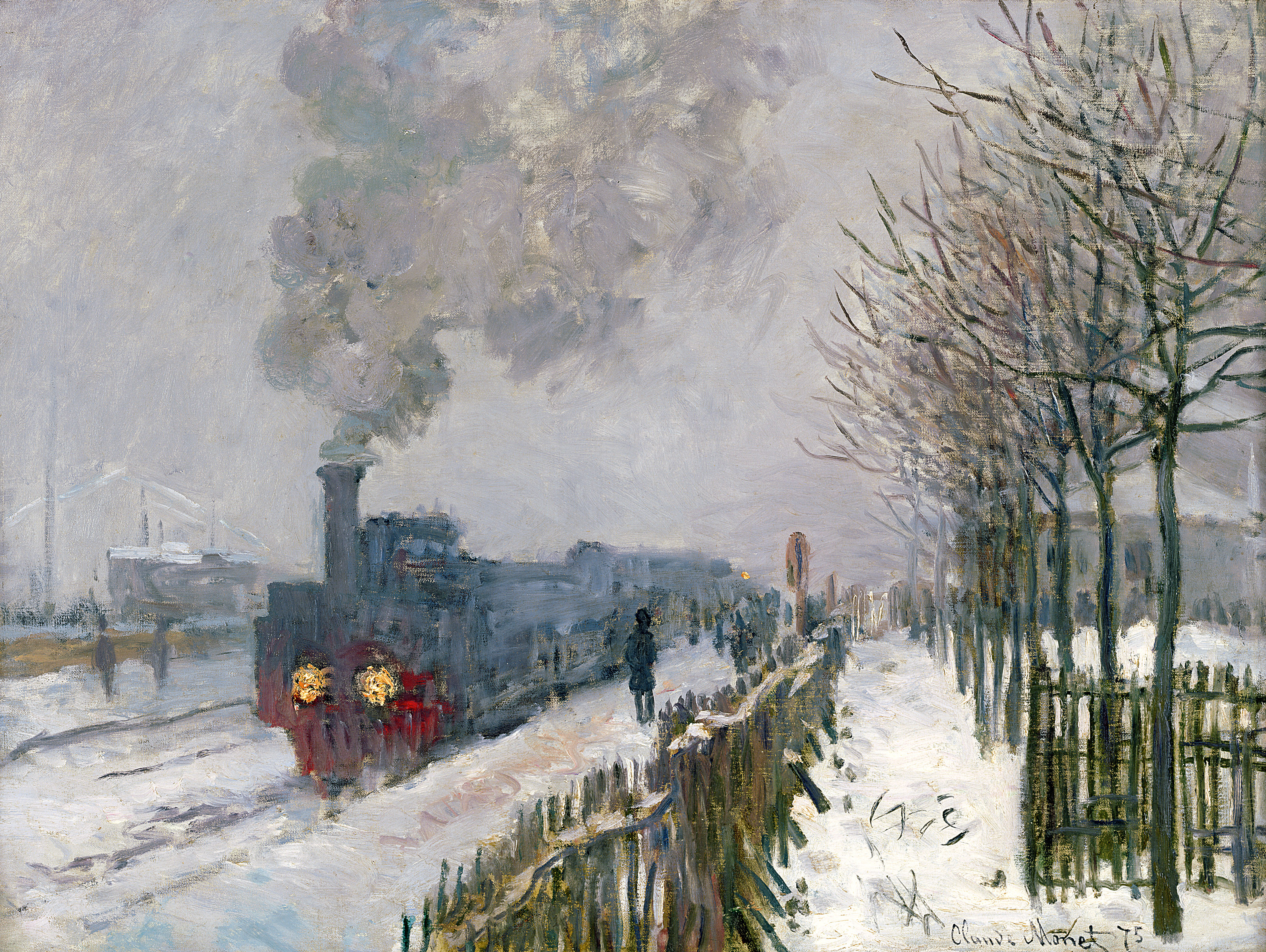MMT 7218                                 Train in the Snow or The Locomotive, 1875 (oil on canvas)                                 Monet, Claude (1840-1926)                                 MUSEE MARMOTTAN MONET, PARIS, ,