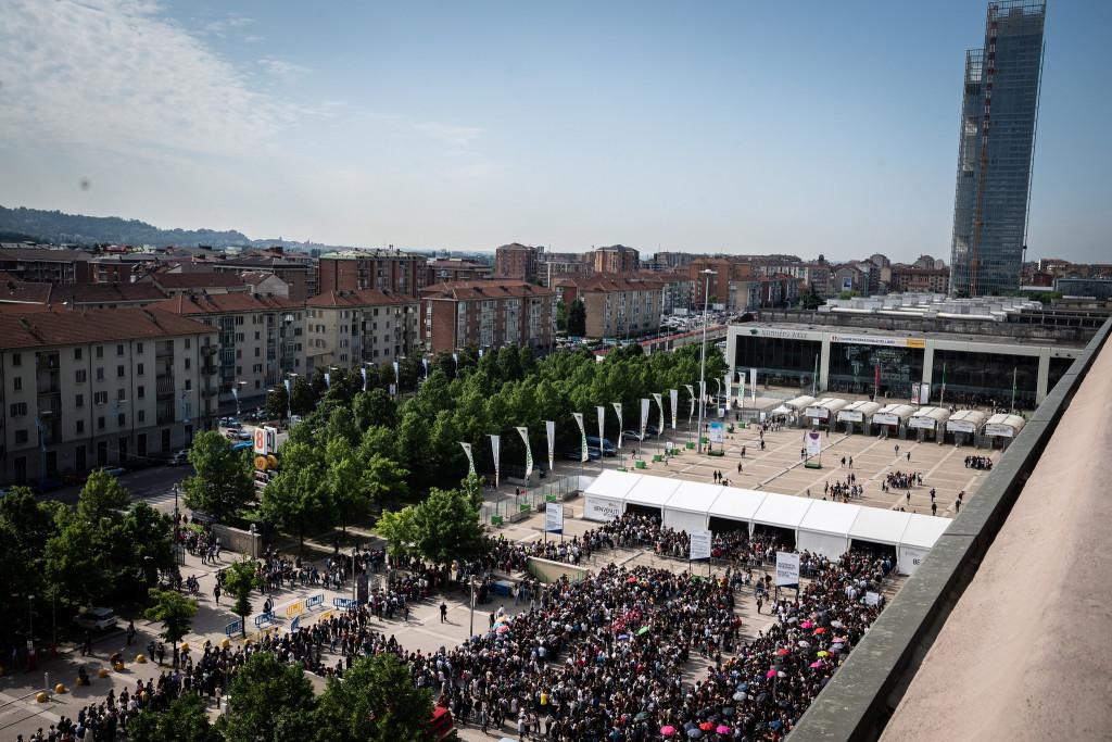 Federico Bernini 11 05 2018 Torino Italia Salone del Libro 2018 le code all'ingresso