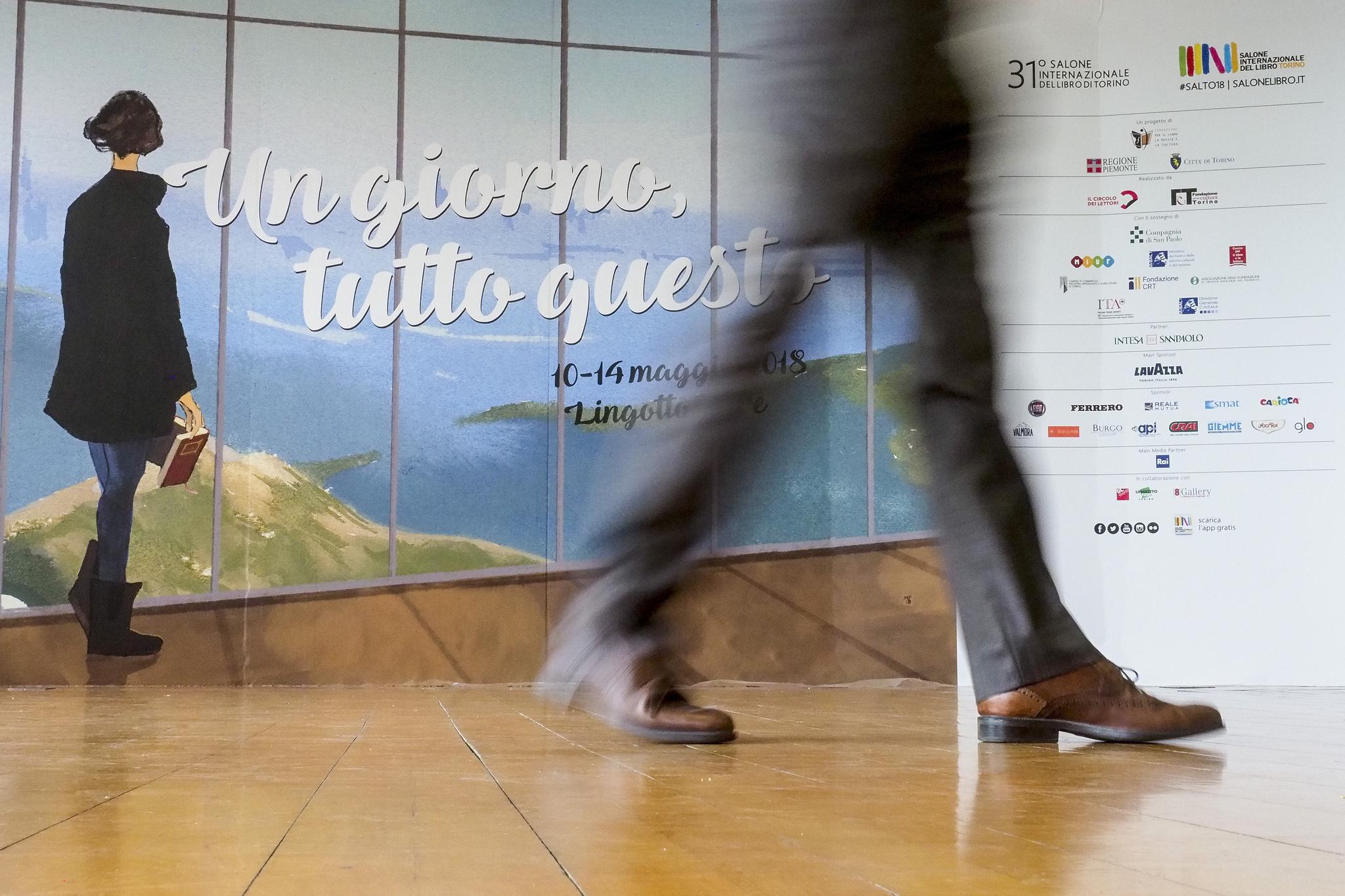 Salone del Libro 2018 Torino, Italia Salone del Libro, Giorno 4 mattino